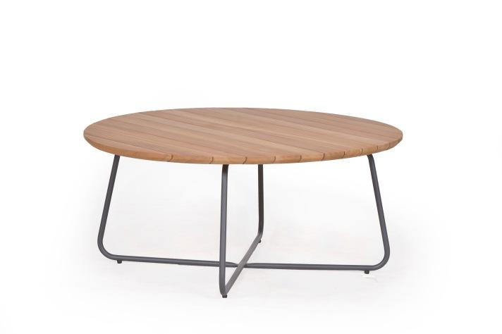 GURTEN Sofa Tisch mit Teakplatte DIA 90 cm