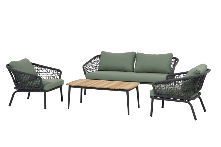 MONACO Sofa Set 4-teilig Kissen hellgrün 40761