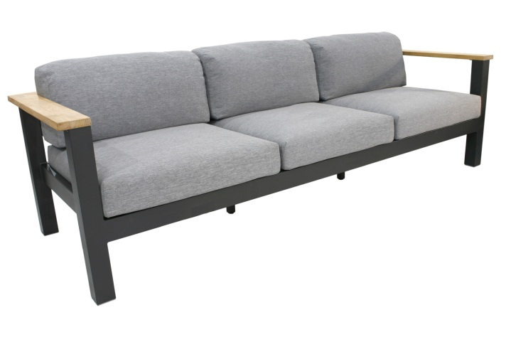 40100 - MINIO ALU anthrazit 3-Sitzer Sofa inkl. Kissen