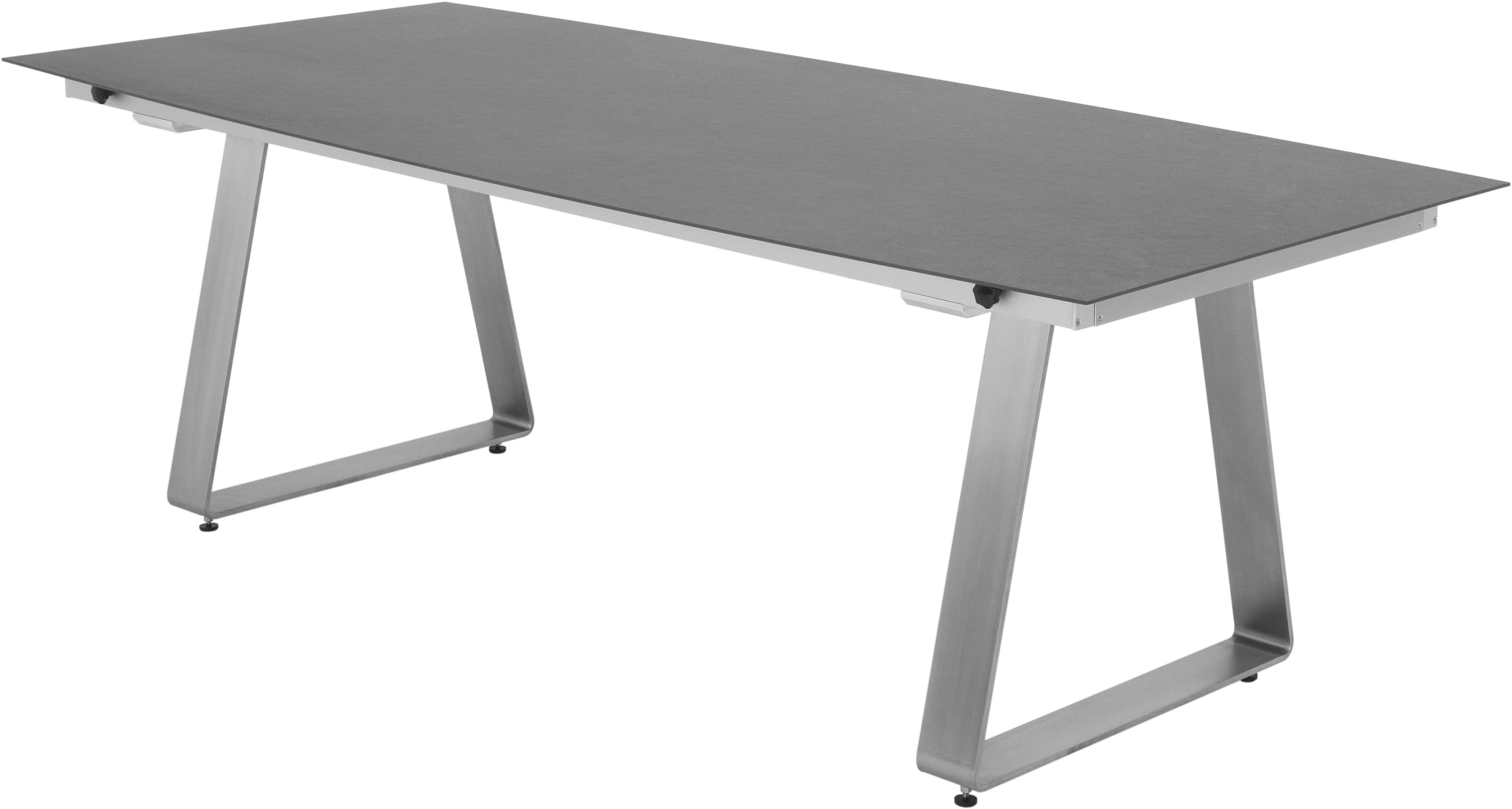 DELTA AZ Tisch Rechteckig Fix 220 x 100 Eiche Dunkel 971004 - weiss