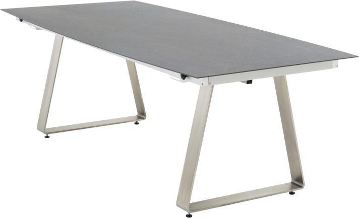 DELTA Fix Tisch Bootsform 220 x 100 Dark Stone 971006 - weiss